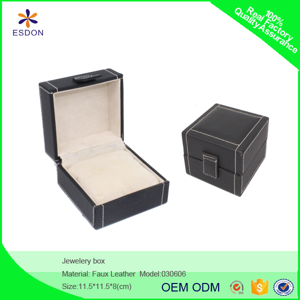 hot selling cheap custom leather jewelry case handmade craft for diamond ring,necklace,bracelet storage