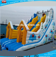 Guangzhou manufacture inflatable slide for winter use/high quality Christmas giant inflatable slide