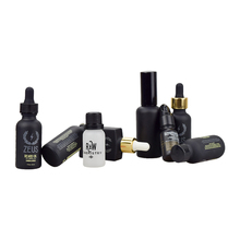 matte black 0.5oz 1oz 2oz 4oz 8oz 16oz 32oz glass hair oil empty dropper lotion sprayer bottles