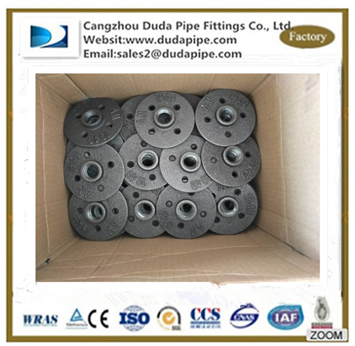 1/2'' 3/4'' Malleable iron Floor Flange for Plumbing Pipe Furniture