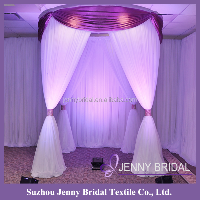 BCK098 white elegant drapes curtains wedding stage backdrop decoration backdrop curtains