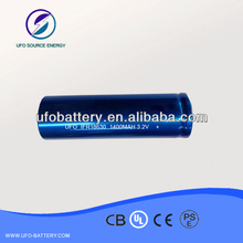 high power IFR18630 1400mAh security product liFepo4 battery factory ISO9001,CE,UN38.3,MSDS