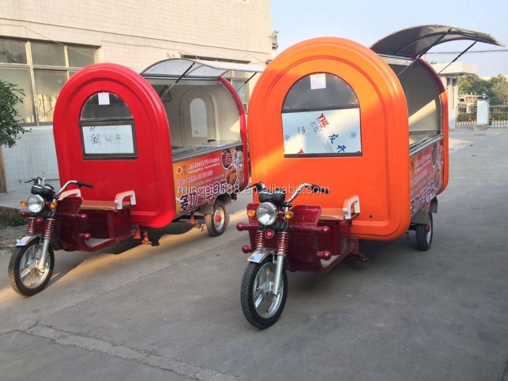 Perfect Mobile Food Cart Kiosk Van Trailer For Sale