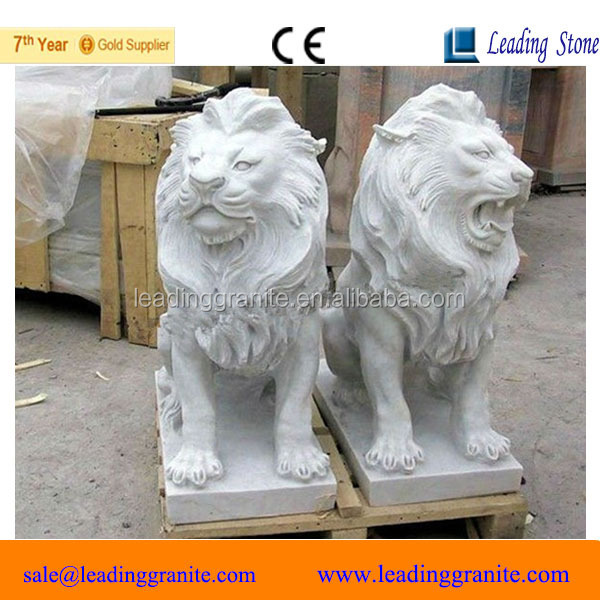 stone lion head carving