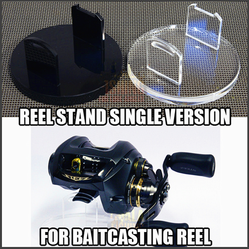 Wholesale Fishing Tool Clear Acrylic Fishing Reel Display Stand