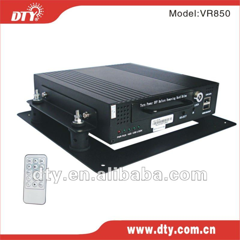 h.264 compression format 4ch D1 mobile dvr supports 1TB hdd