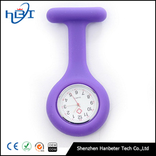 Round face silicone rubber fob nurse watch with multiple colors