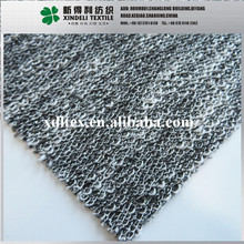 Yarn dyed lurex cotton polyester knit metallic knitted fabric for coats garments