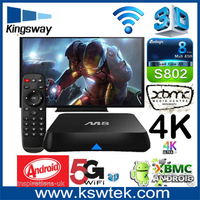 Kodi pre-installed m8 quad core amlogic android tv box 3gb ram quad core mx2 android tv bo