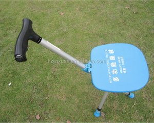 Hot! Old man walking stick stool with light cane crutches four feet telescopic folding stool walk chairs for the elderly outdoor