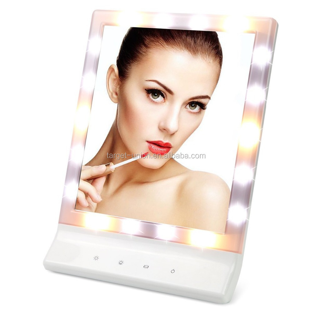 USB Cable Touch Screen Make Up Vanity Hollywood Mirror with Led Light Magnifying