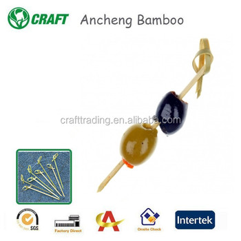 100pcs pack Bamboo Skewers, Twisted End