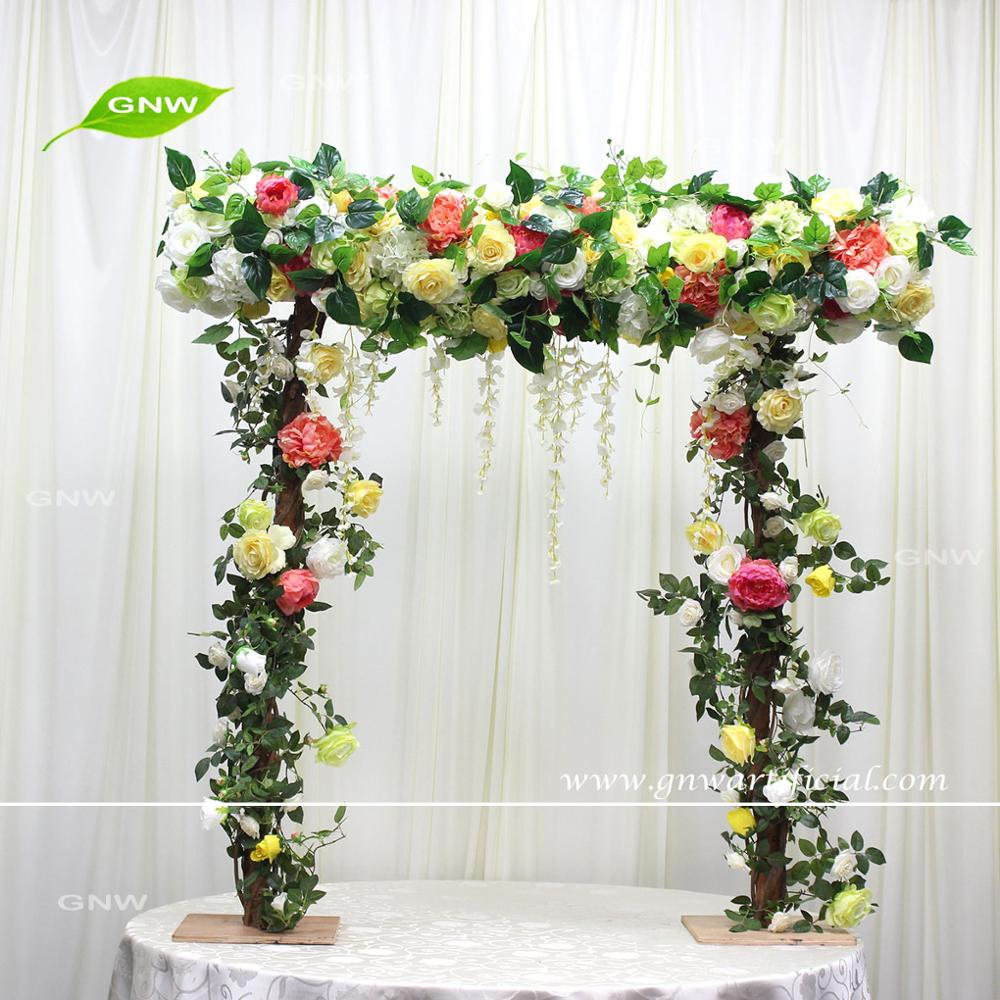 GNW FLWA1705001Unique hot sell advanced crystal four wedding arch decoration of hot selling