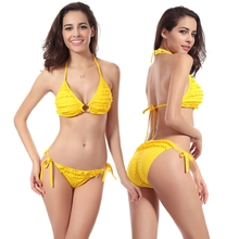 Women Sexy Bikini Swimwear Summer Padded Triangle Bikini Low Waist Bikini Set Swimsuit