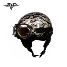 Vintage Chopper Half Harley Helmets With Google Scarf