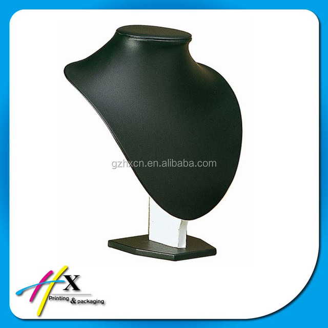 New products high-end black PU jewelry showing display stand