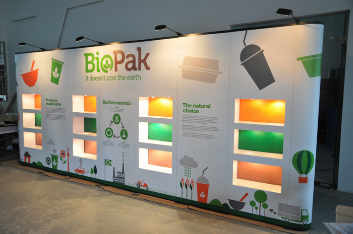 Fabric Exhibition Stand Examples : Stretch tension fabric backdrop display exhibition stall