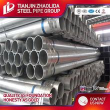 zinc coated 200 - 500 g carbon steel st37 hot dipped galvanized piping for construction use