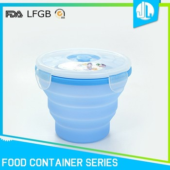 Professional manufacturer FDA grade silicone food container bpa free