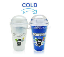 reusable double wall plastic cup with insert paper dome lid