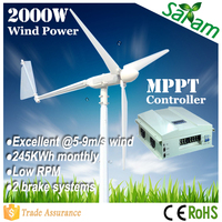 China manufactured 2KW 48V 300V buy eolic power wind generator prices
