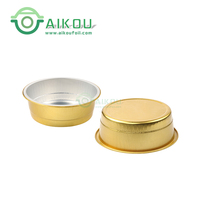 1200ml/46oz gold luxury disposable round container aluminium foil food chafing dish