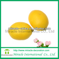 Plastic fruits yellow lemon for display