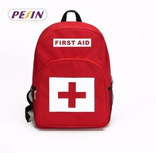 Red Backpack for First Aid Kits Pack Emergency Treatment or Hiking, Backpacking, Camping, Travel, Car & Cycling