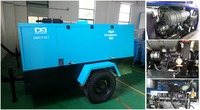 7bar 13bar Diesel engine portable Rotary Screw Air Compressor