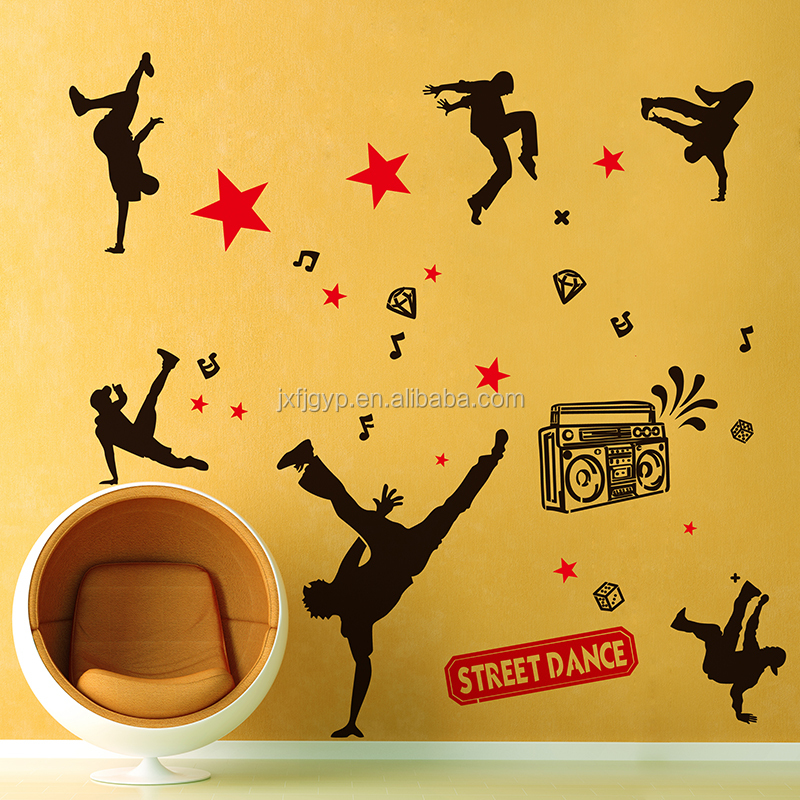 Wholesale creative removable stickers/non-toxic PVC wall sticker/lovely home decals