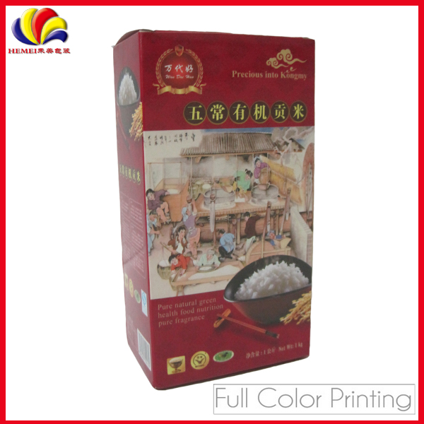 Paper rice grey board packaging box