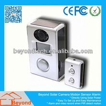 Motion Detection Rear View Mirror Solar Camera Alarm With Video Record and Solar Panel