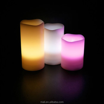 Decoration Electric plastic Candle Light Flameless LED Candle