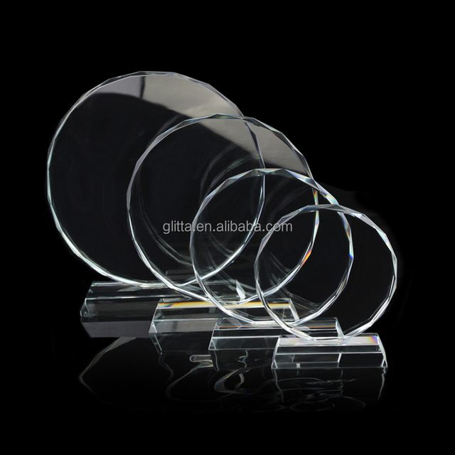WT047 Crystal Crafts Manufacturer Personalized Crystal trophy plaque for custom crystal award K9 glass awards