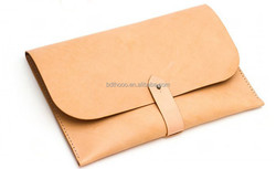 high quality handmade craft cowhide laptop sleeve leather bag tablet case for amd r9 laptop