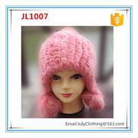 Beanie knit ladies winter hat with ear muff