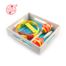 wooden musical instrument set xylophone maracas
