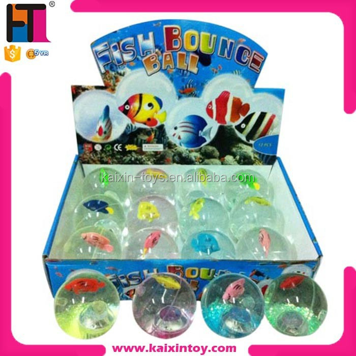 6.5cm rubber led high bouncing ball