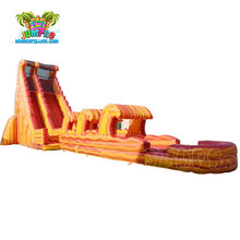 Long inflatable water slide clearance, children and adults inflatable slip n slide, giant inflatable water slide for sale