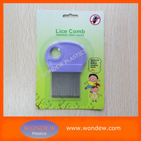 Factory supplier stainless steel head lice comb with magnifying glass