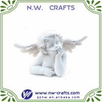 Hot sale custom resin cute baby angel sculpture