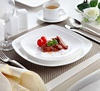 Hotel and restaurant White Ceramic plate Creative New design Dinner plates