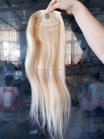 "18"" 20"" 22"" Indian Remy Clip in Ponytail Hairpiece Wrap around Ponytail Hair Extensions Bleach Blonde 613 Hair Extensions"