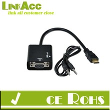 HDMI to VGA + 3.5mm Jack Audio Cable Video Converter Adapter PC Laptop Xbox DVD