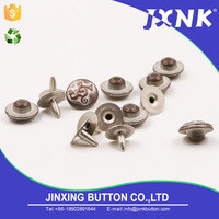 JXNK custom threaded leather craft waterproof blind rivets metal studs for clothing