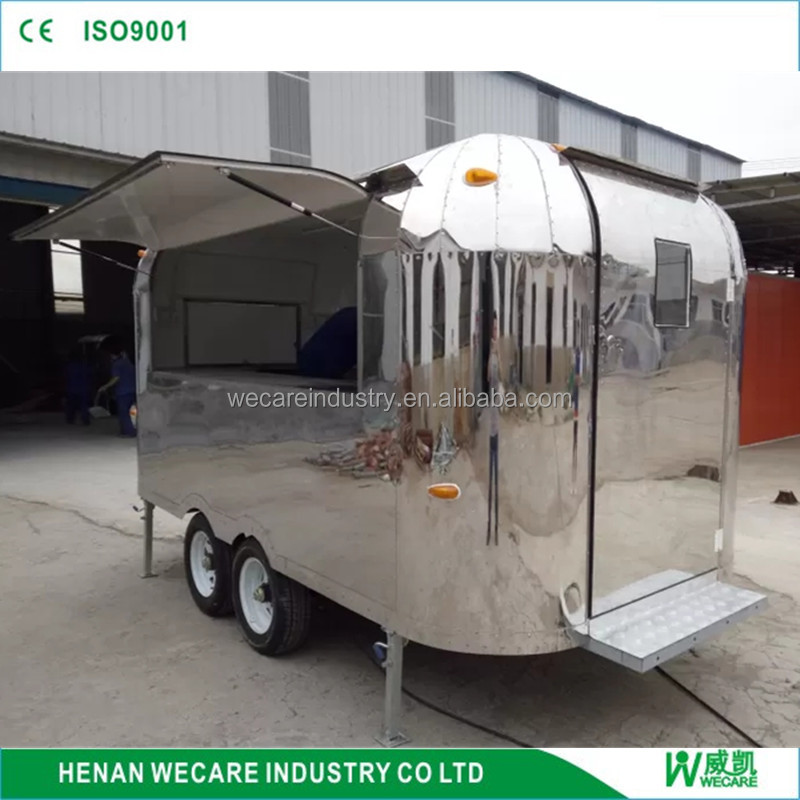 2016 Wecare mobile kebab van street coffee kiosk bike cafe