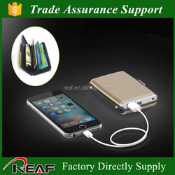 2016 new patent design aluminium card holder with power bank fucntion,card holder power bank
