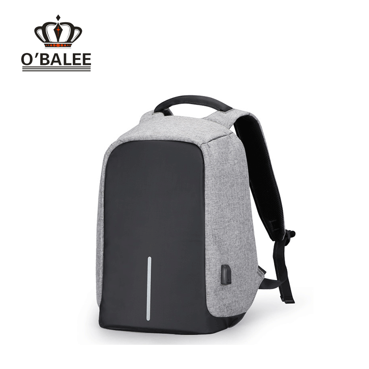 New design waterproof light weight grey/black snow fabric bobby laptop computer XD anti-theft backpack with USB charging