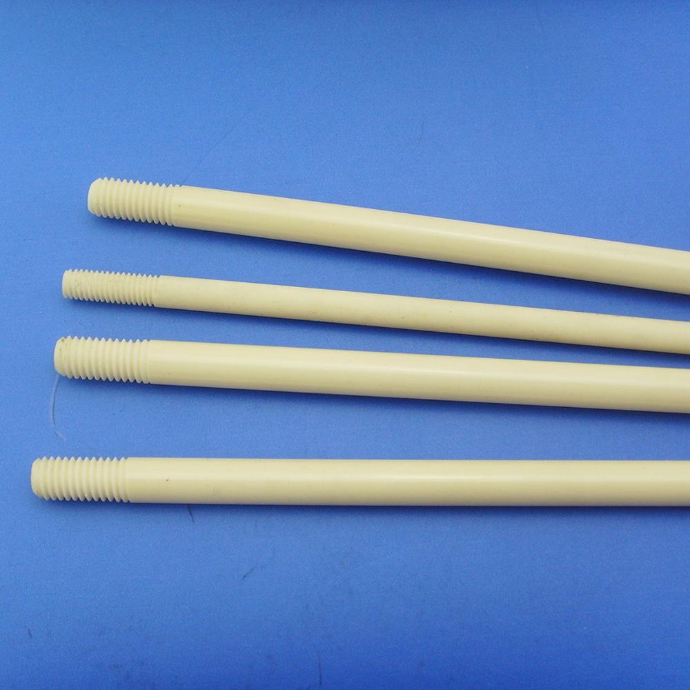 Mechanical strength Threaded alumina ceramic plunger shaft rod spindle