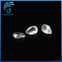 2*3mm pear shape cut white natural topaz on Alibaba